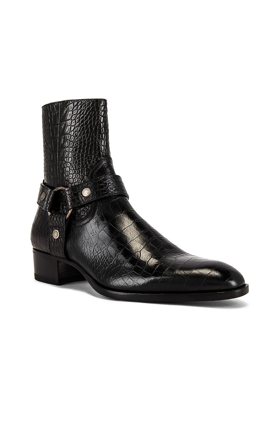 Image 1 of Saint Laurent Wyatt 40 Harness Boot in Black