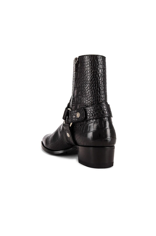 Image 3 of Saint Laurent Wyatt 40 Harness Boot in Black