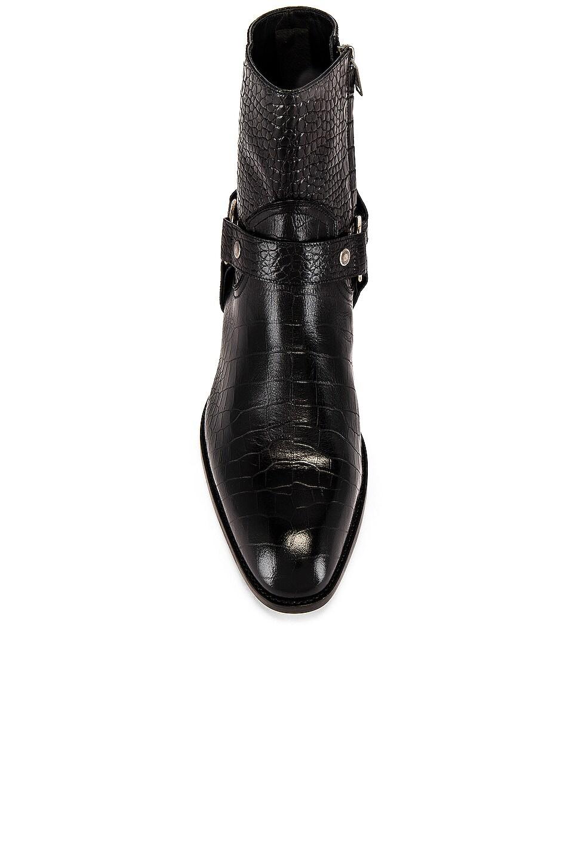 Image 4 of Saint Laurent Wyatt 40 Harness Boot in Black