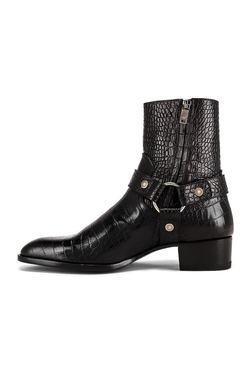 Image 5 of Saint Laurent Wyatt 40 Harness Boot in Black