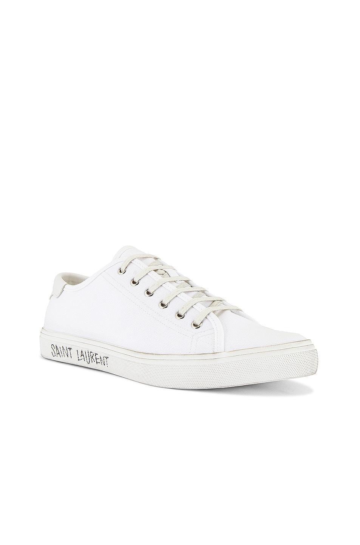 Image 2 of Saint Laurent Malibu Low Top Sneaker in Optic White