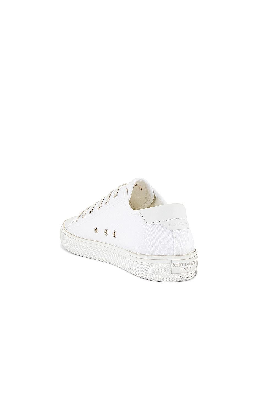 Image 3 of Saint Laurent Malibu Low Top Sneaker in Optic White