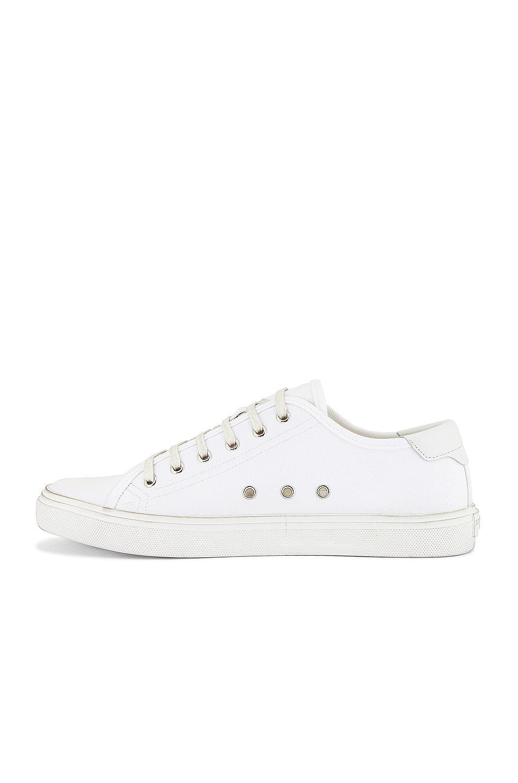 Image 5 of Saint Laurent Malibu Low Top Sneaker in Optic White