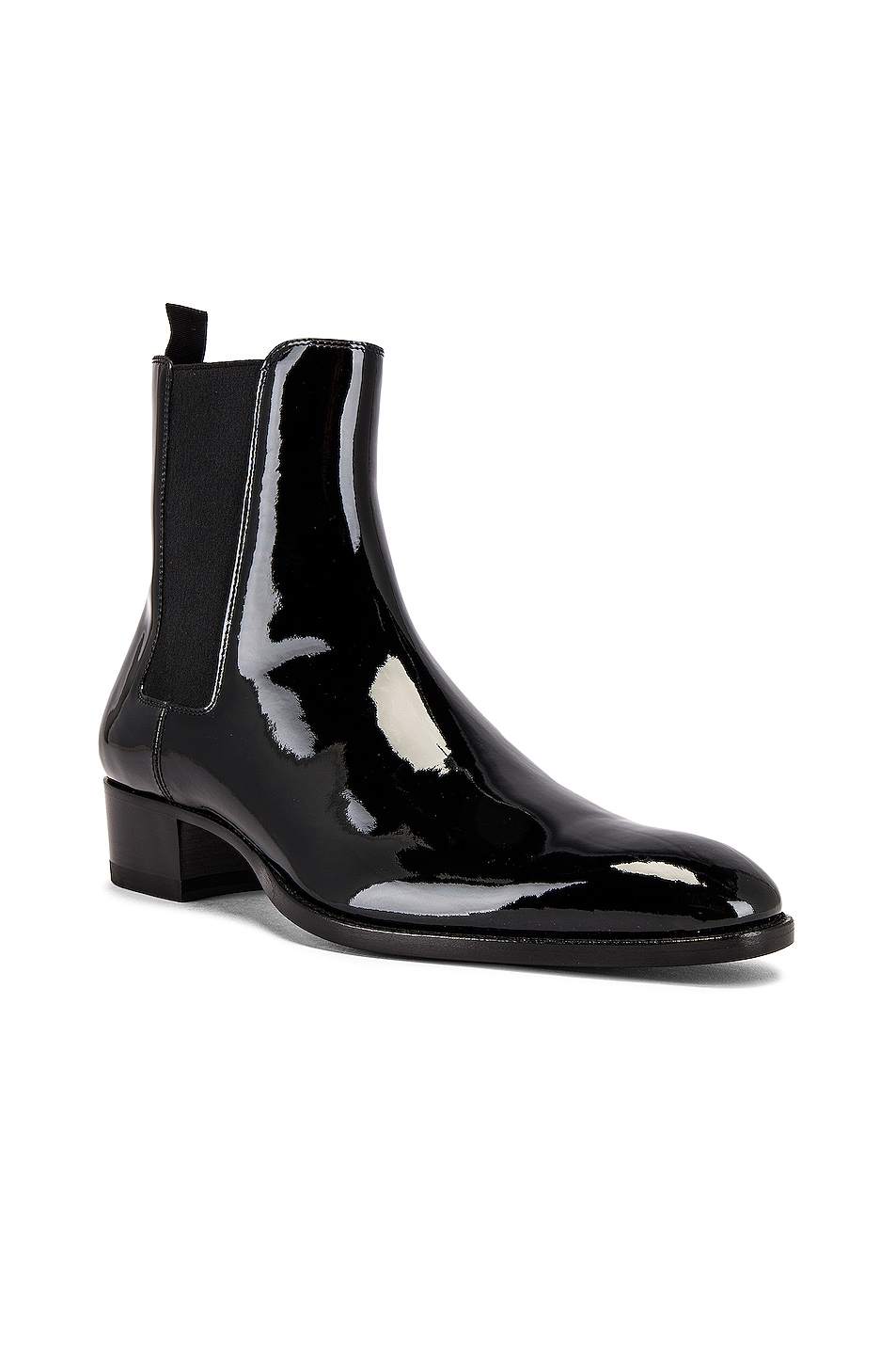 Image 1 of Saint Laurent Leather Boots in Black