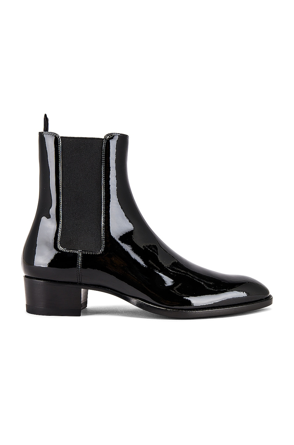 Image 2 of Saint Laurent Leather Boots in Black