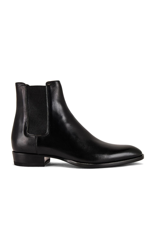 Image 1 of Saint Laurent Wyatt 30 Chelsea Boot in Black