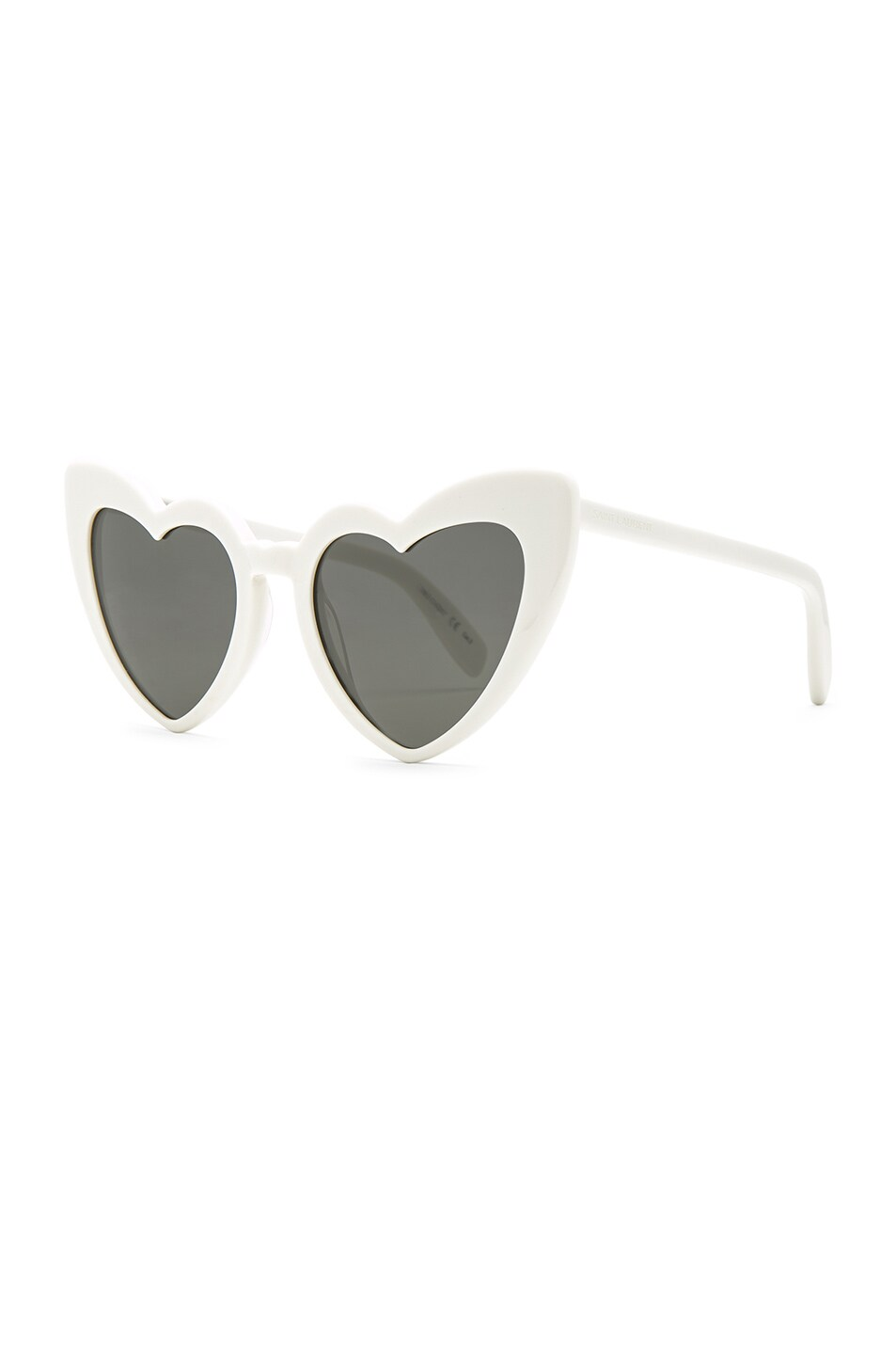 Image 2 of Saint Laurent Lou Lou Heart Sunglasses in White