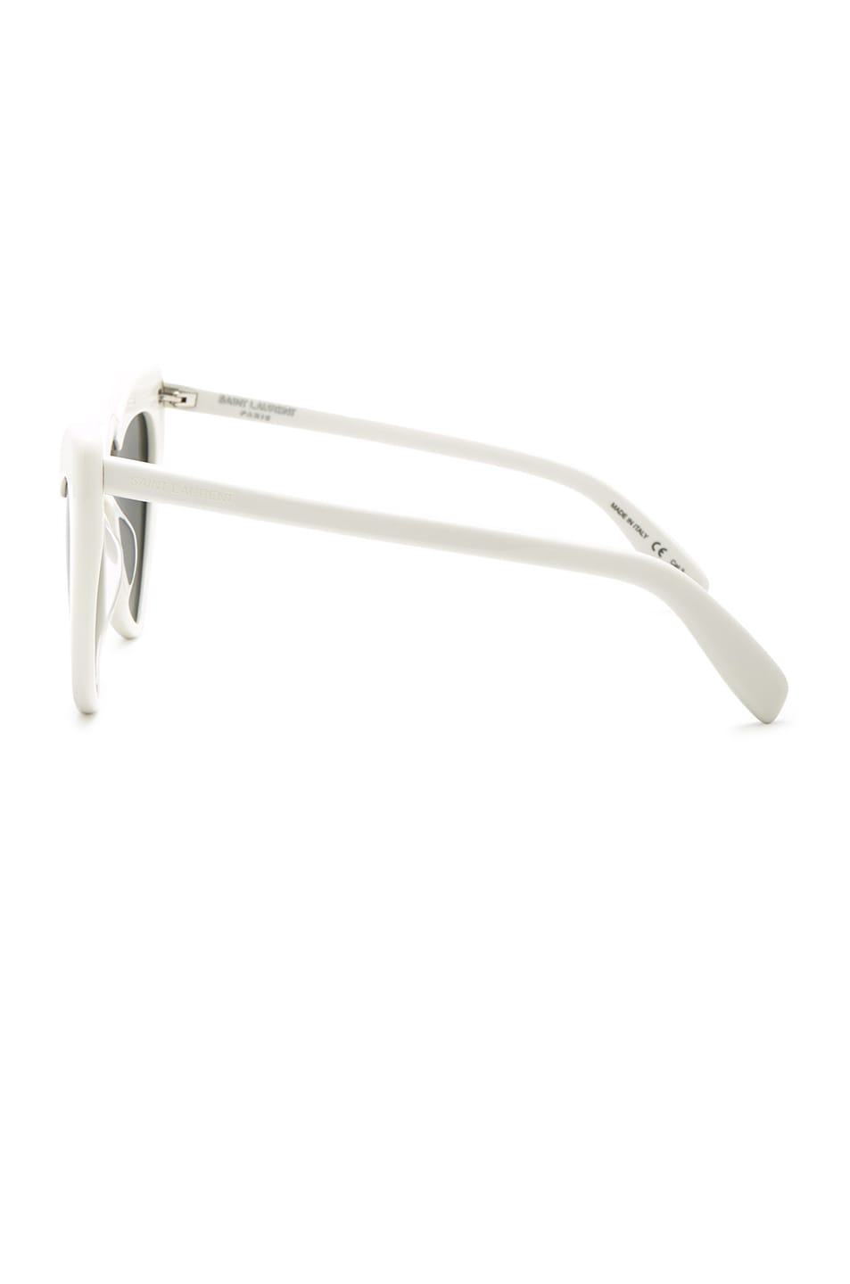 Image 3 of Saint Laurent Lou Lou Heart Sunglasses in White