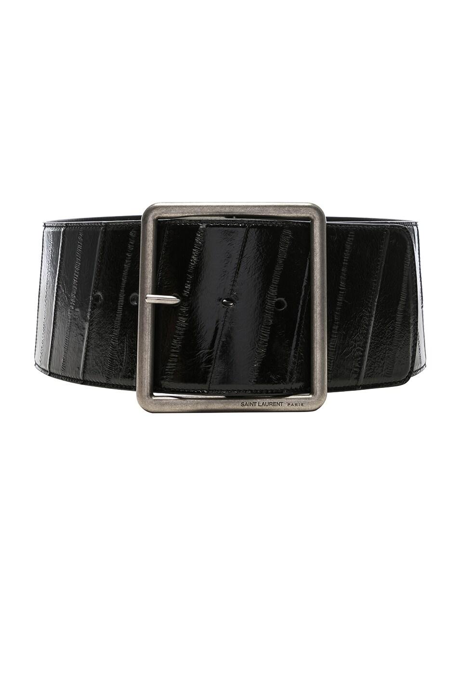 Image 1 of Saint Laurent Corset Wide Belt in Black
