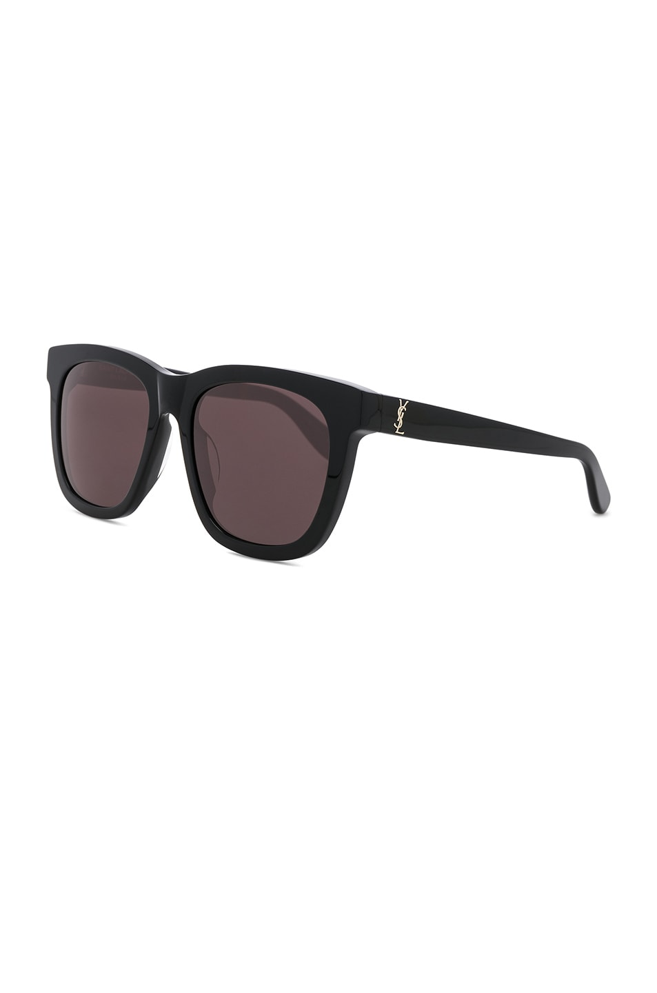 Image 2 of Saint Laurent Oversized Rectangle Sunglasses in Black & Grey