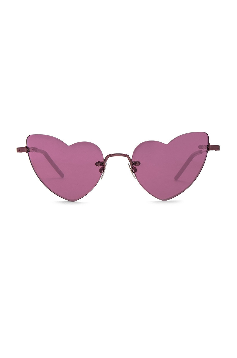 Image 1 of Saint Laurent Loulou Sunglasses in Pink