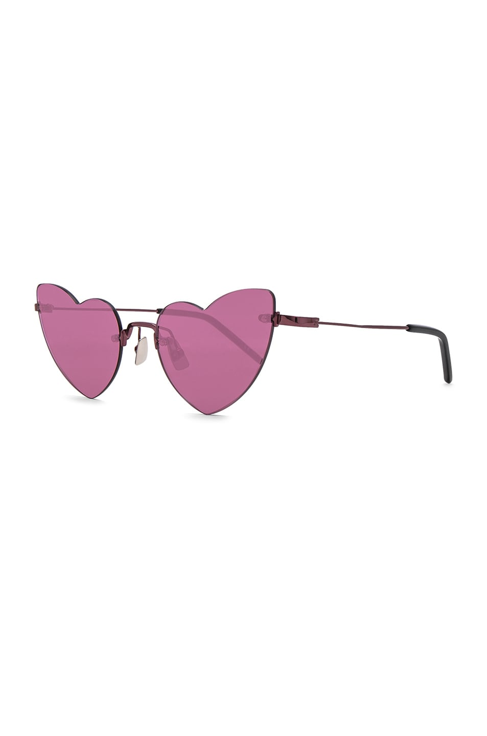 Image 2 of Saint Laurent Loulou Sunglasses in Pink