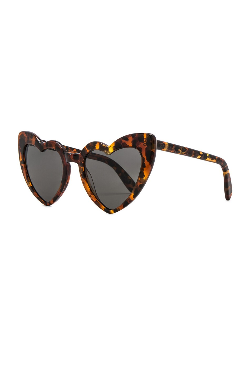 Image 2 of Saint Laurent Loulou Sunglasses in Leopard Havana