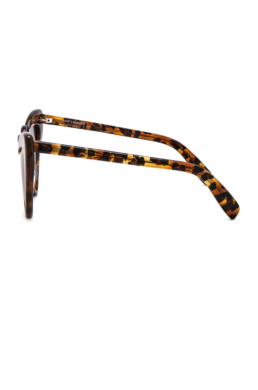 Image 3 of Saint Laurent Loulou Sunglasses in Leopard Havana
