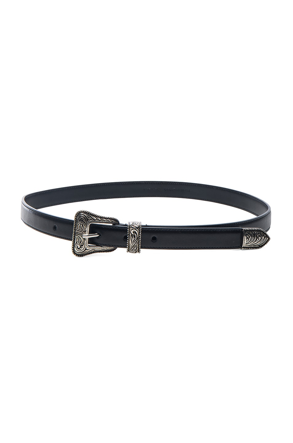 Image 1 of Saint Laurent Western Belt in Black