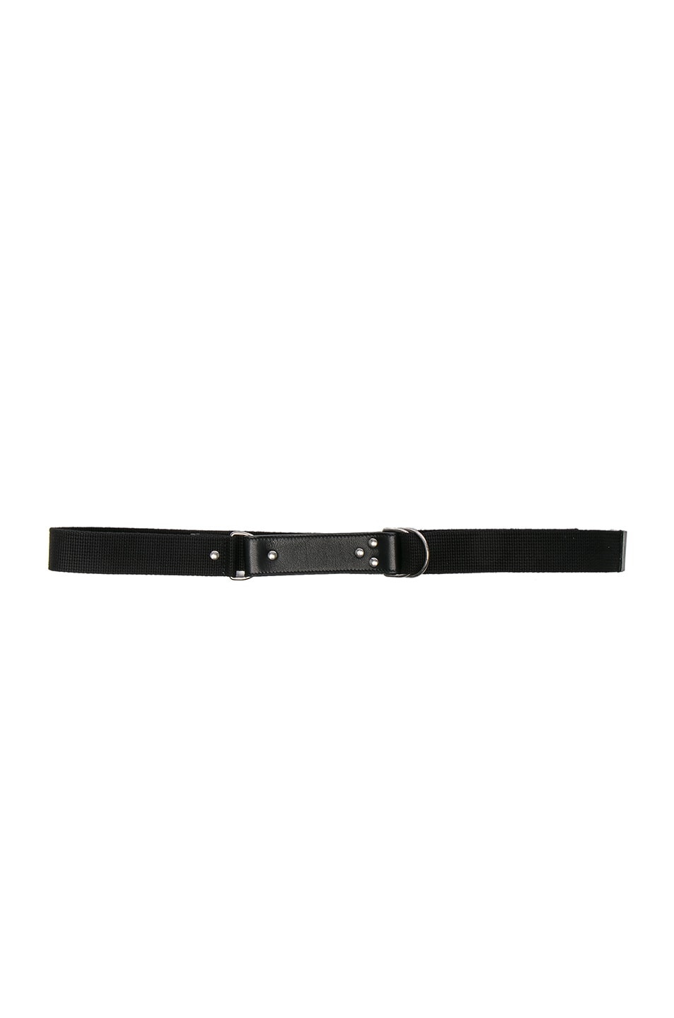 Image 1 of Saint Laurent Oval Monogramme Belt in Black & Black