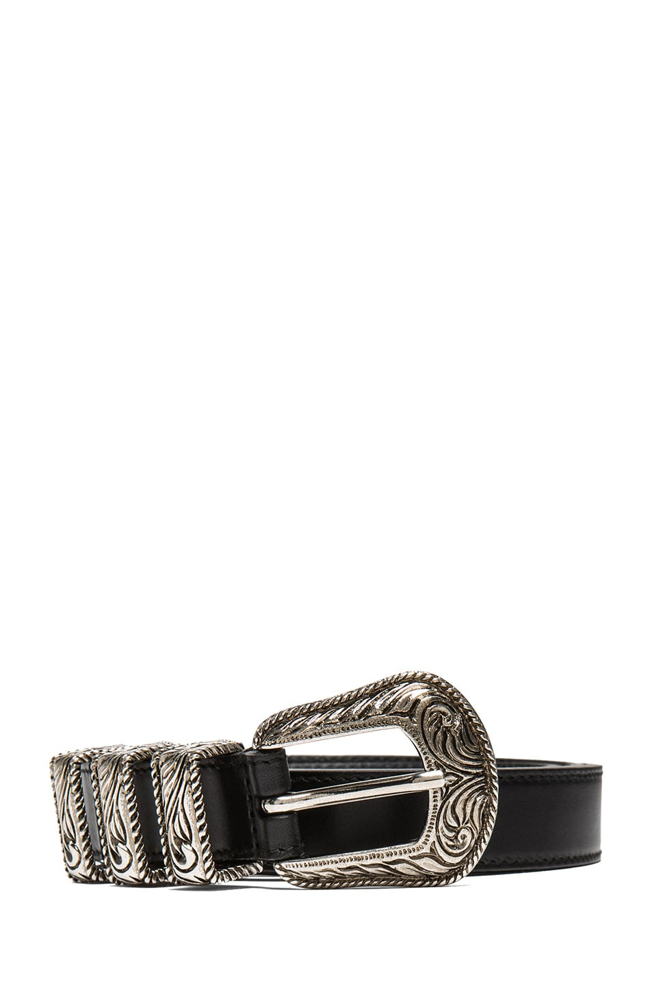 Image 1 of Saint Laurent Westerns Hip Belt in Black