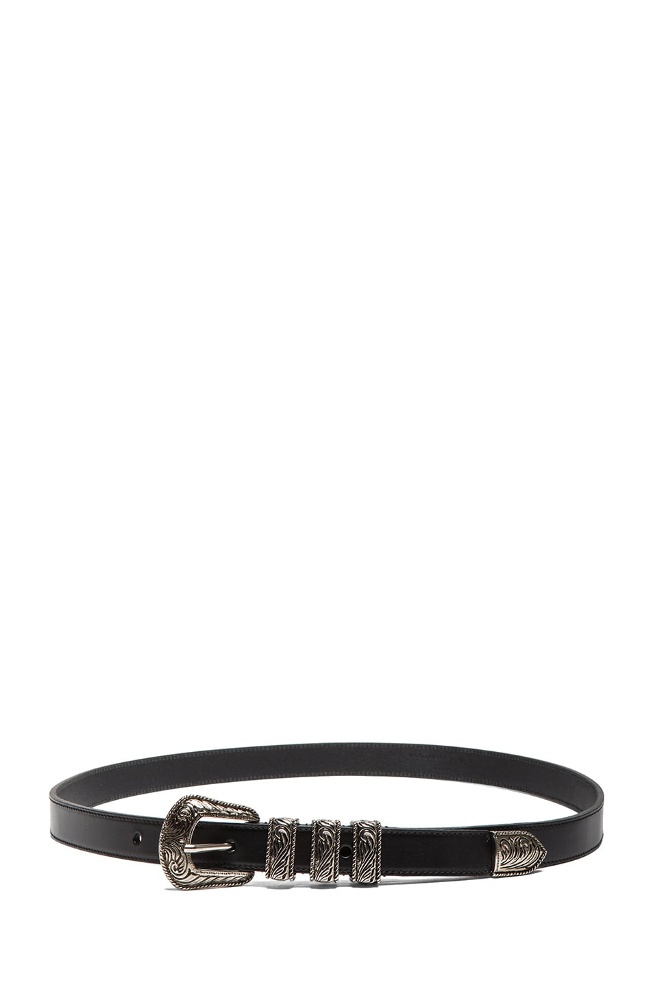 Image 2 of Saint Laurent Westerns Hip Belt in Black