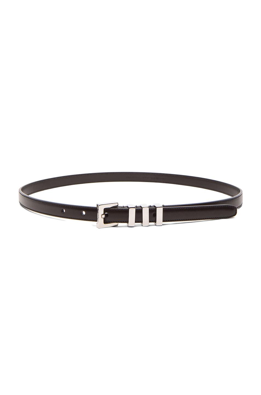 Image 1 of Saint Laurent Trois Passants Belt in Black