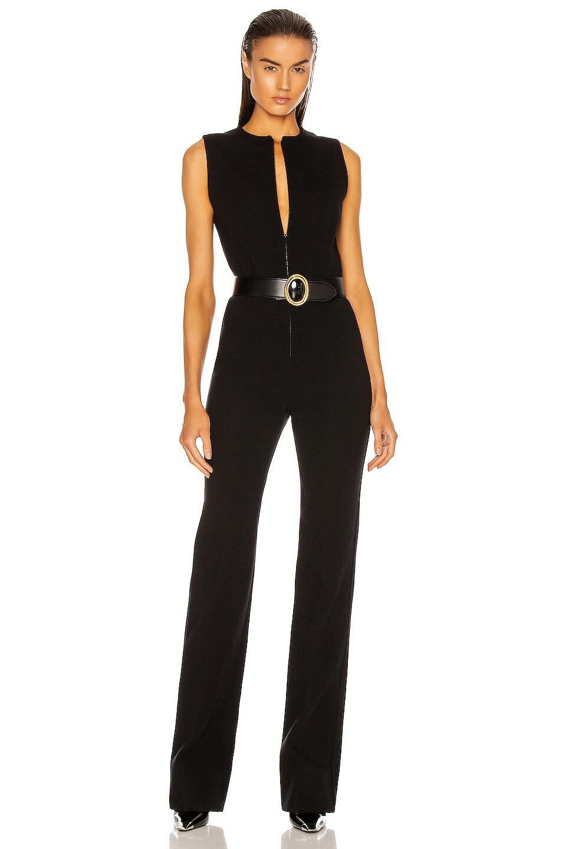 Image 1 of Saint Laurent Sleeveless Jumpsuit in Noir