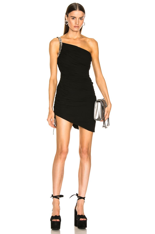 Image 1 of Saint Laurent One Shoulder Dress in Black
