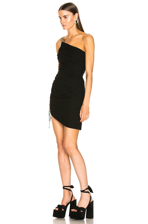 Image 3 of Saint Laurent One Shoulder Dress in Black