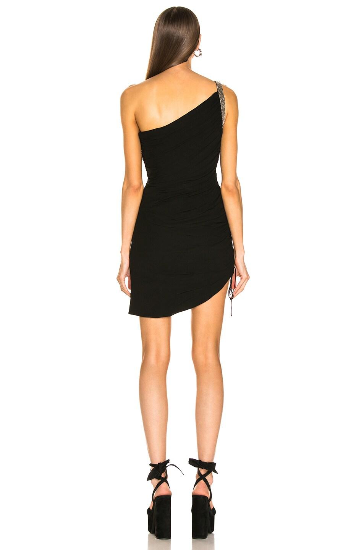 Image 4 of Saint Laurent One Shoulder Dress in Black