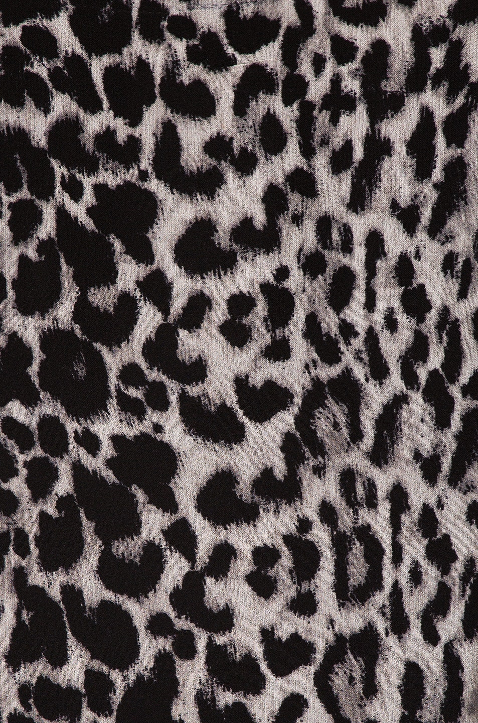 Image 4 of Saint Laurent Leopard Ruffle Dress in Black & Gray