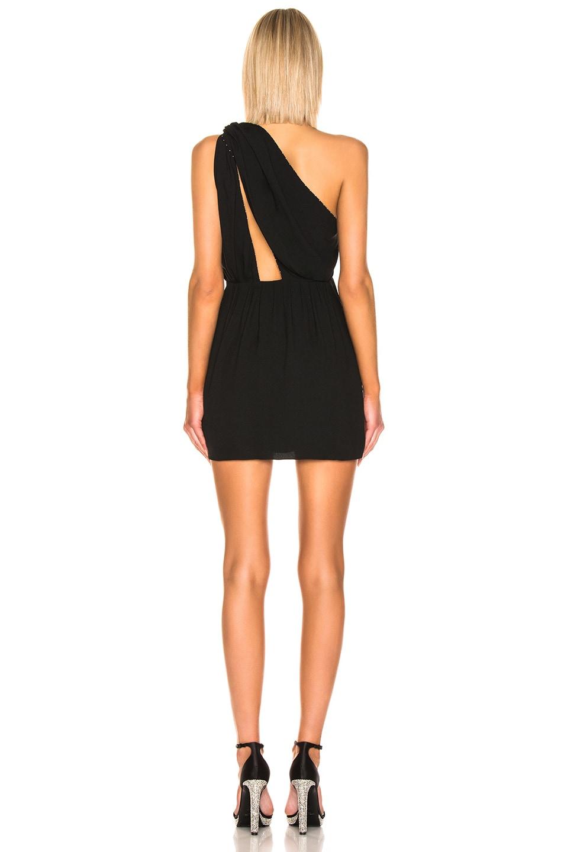 Image 3 of Saint Laurent One Shoulder Mini Dress in Black