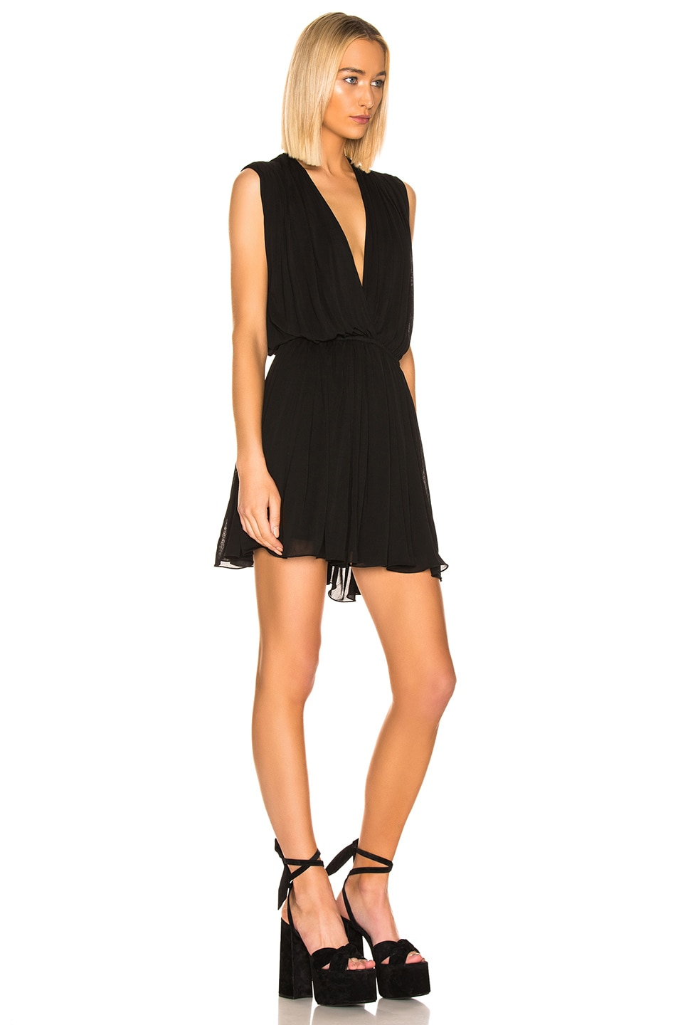 Image 2 of Saint Laurent Drape Dress in Black