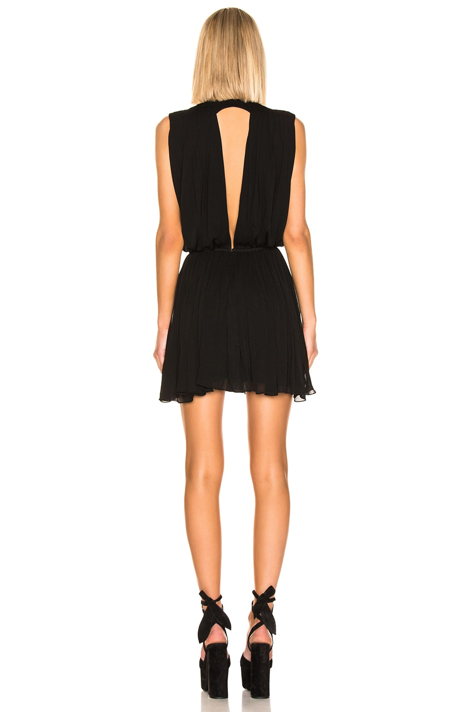 Image 3 of Saint Laurent Drape Dress in Black