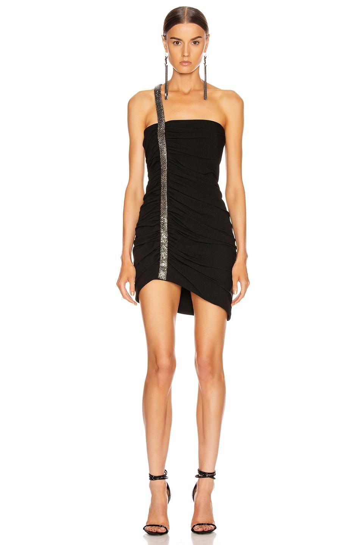 Image 1 of Saint Laurent Ruched Mini Dress in Black