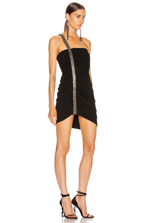 Image 2 of Saint Laurent Ruched Mini Dress in Black