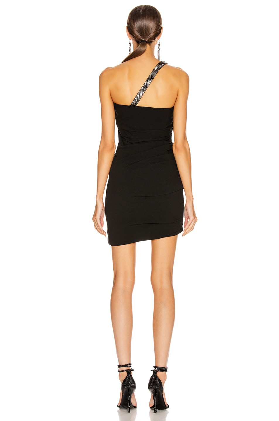 Image 4 of Saint Laurent Ruched Mini Dress in Black