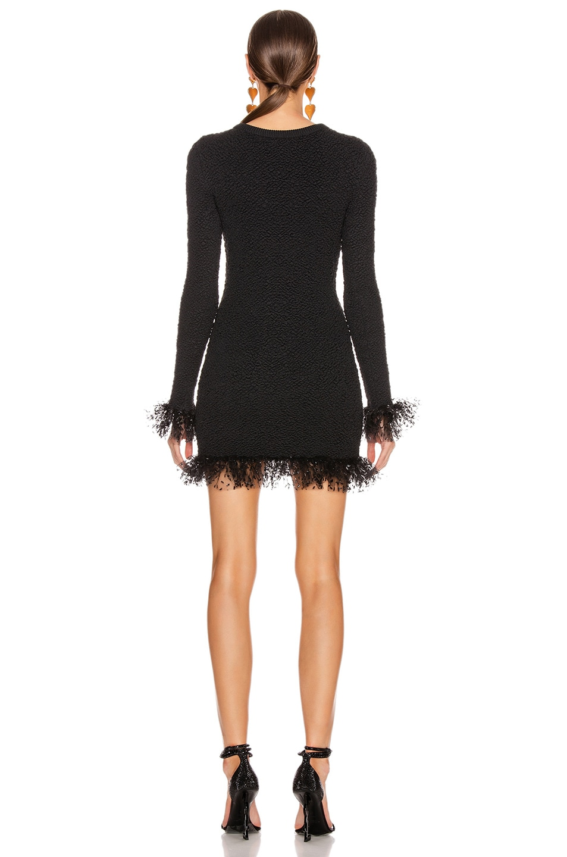 Image 3 of Saint Laurent Long Sleeve Tulle Mini Dress in Black