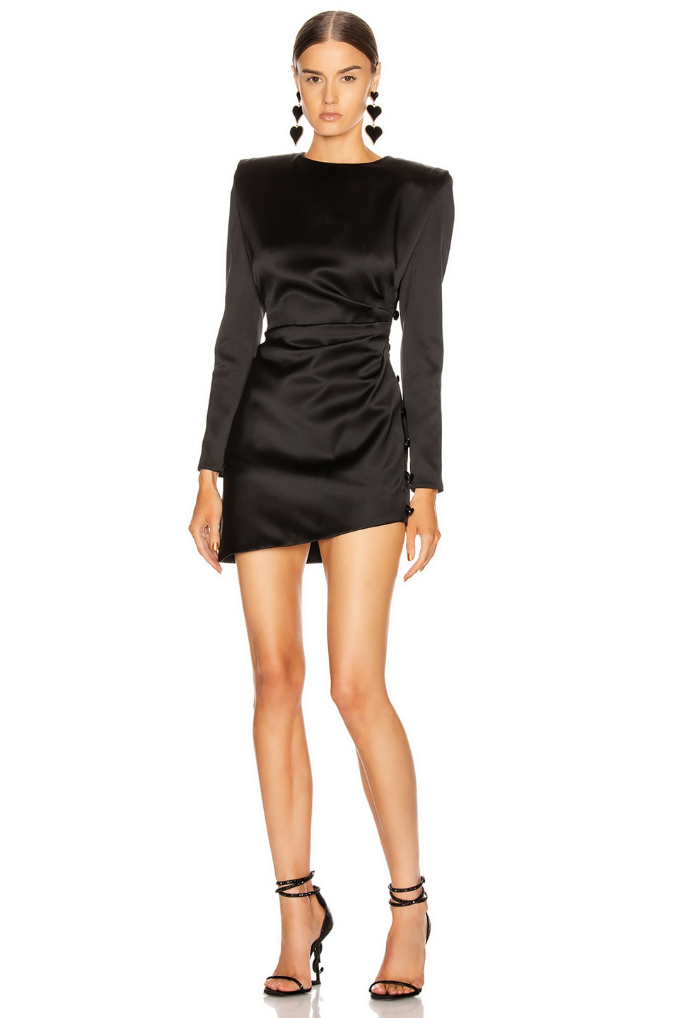 Image 1 of Saint Laurent Long Sleeve Mini Dress in Black