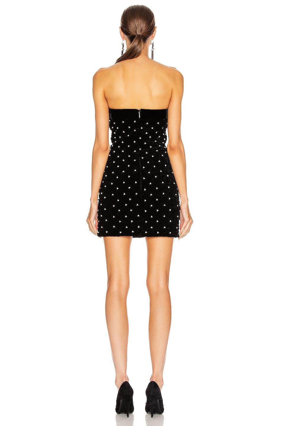 Image 3 of Saint Laurent Sweetheart Mini Dress in Black