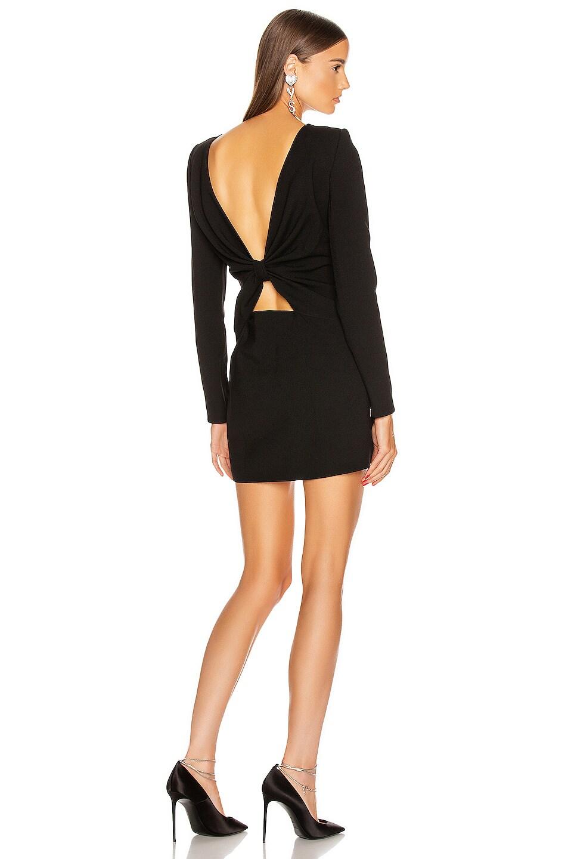 Image 1 of Saint Laurent Long Sleeve Mini Dress in Black
