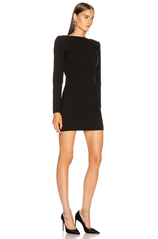 Image 3 of Saint Laurent Long Sleeve Mini Dress in Black
