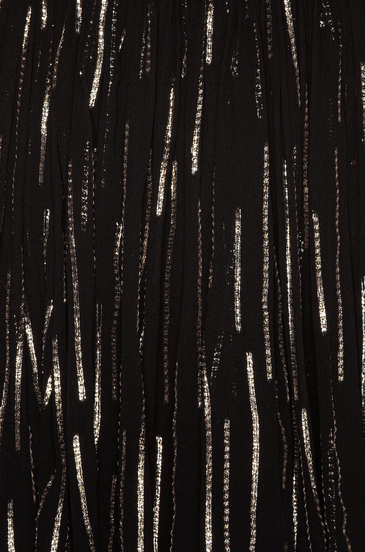Image 4 of Saint Laurent Plunging Mini Dress in Black & Gold