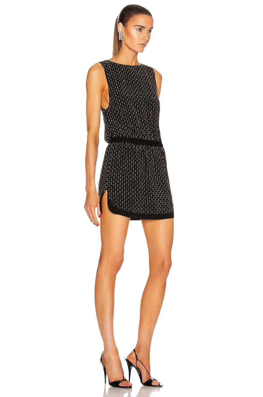 Image 2 of Saint Laurent Sleeveless Mini Dress in Black & Gold