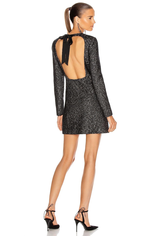 Image 1 of Saint Laurent Cocktail Mini Dress in Noir Or Argent