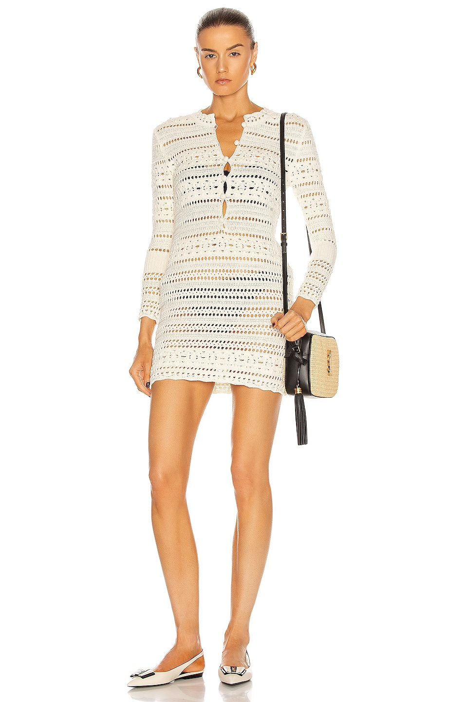 Image 1 of Saint Laurent Jane Dress in Naturel