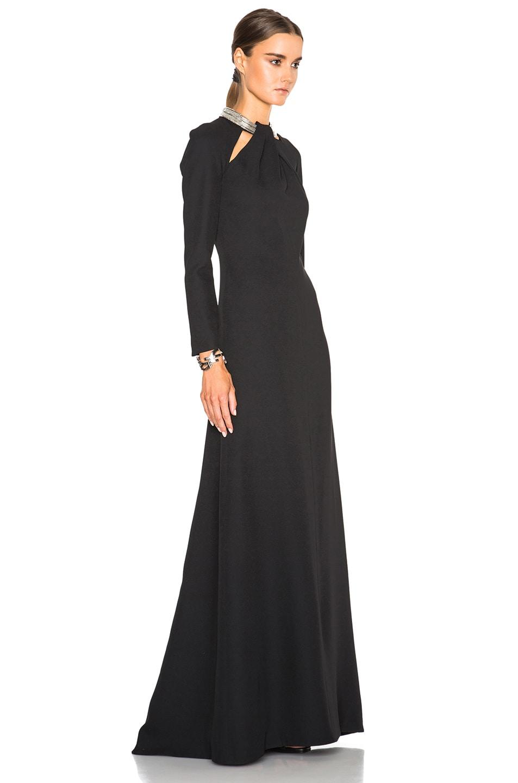 Image 3 of Saint Laurent Embellished Neck Gown in Black