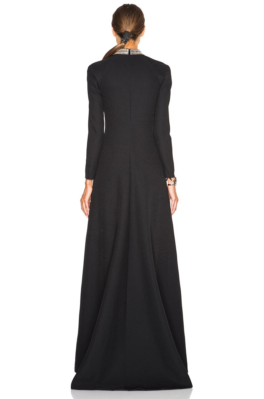 Image 4 of Saint Laurent Embellished Neck Gown in Black