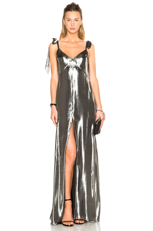 Image 1 of Saint Laurent Metallic Gown in Argent