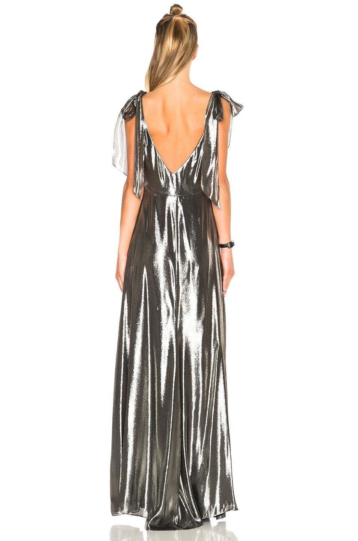 Image 4 of Saint Laurent Metallic Gown in Argent