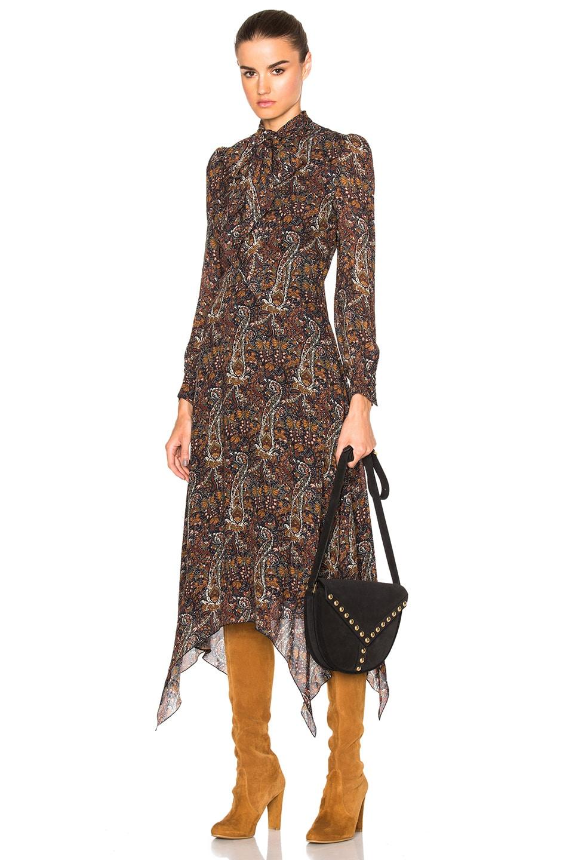 Image 1 of Saint Laurent Paisley Vintage Long Dress in Multi
