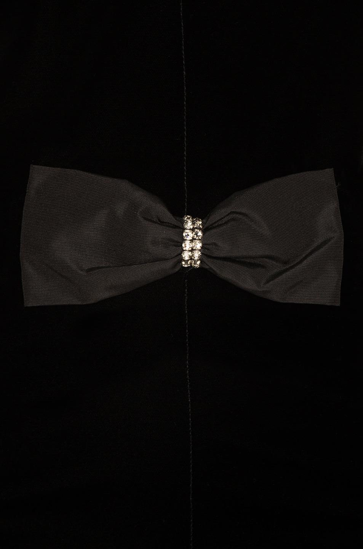 Image 4 of Saint Laurent Velvet Sleeveless Bow Front Dress in Black