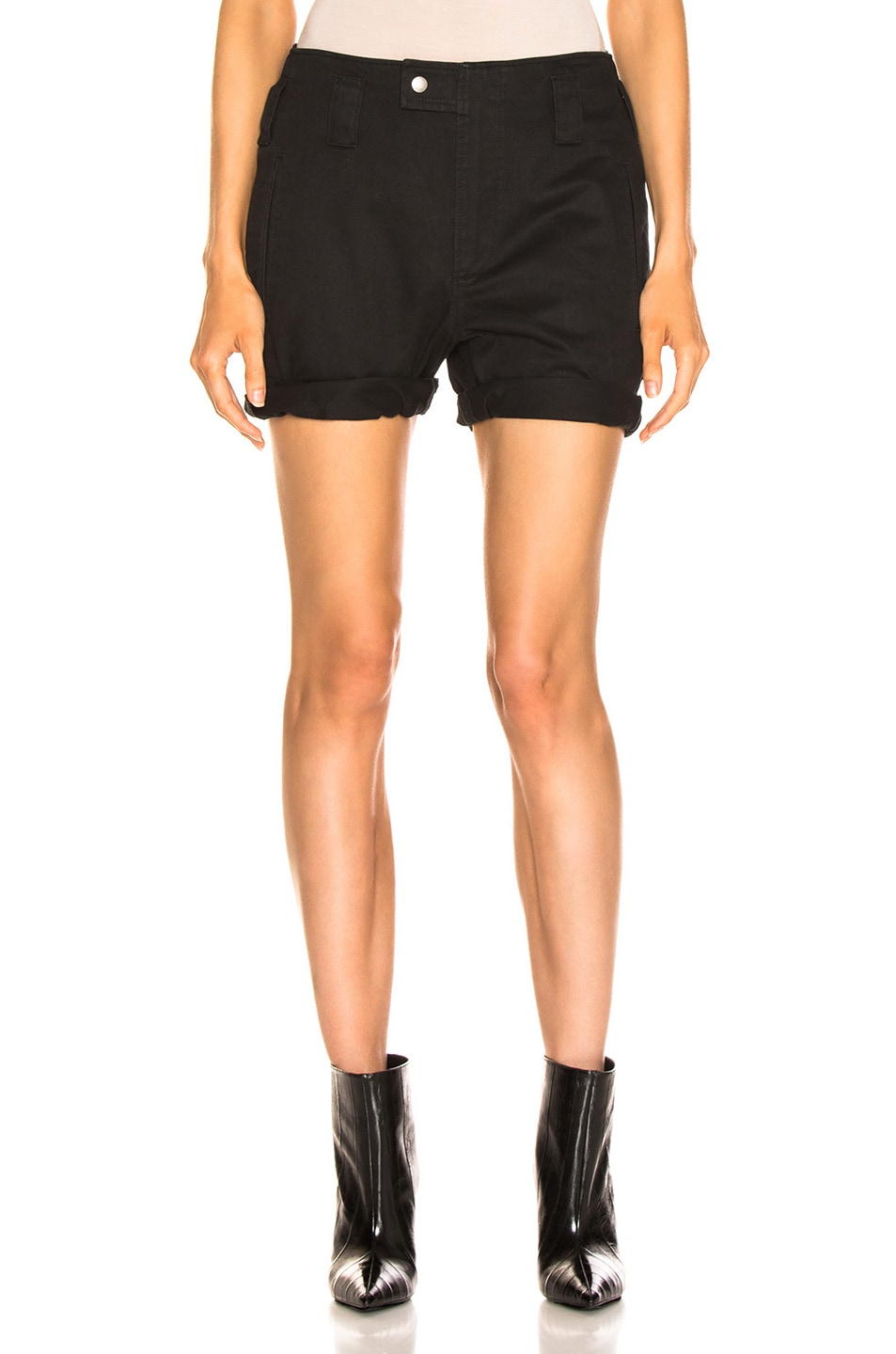 Image 1 of Saint Laurent Shorts in Black